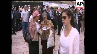 Hundreds of Orthodox Jews gathered at Jerusalem's Wailing Wall, to receive a priestly blessing on Th