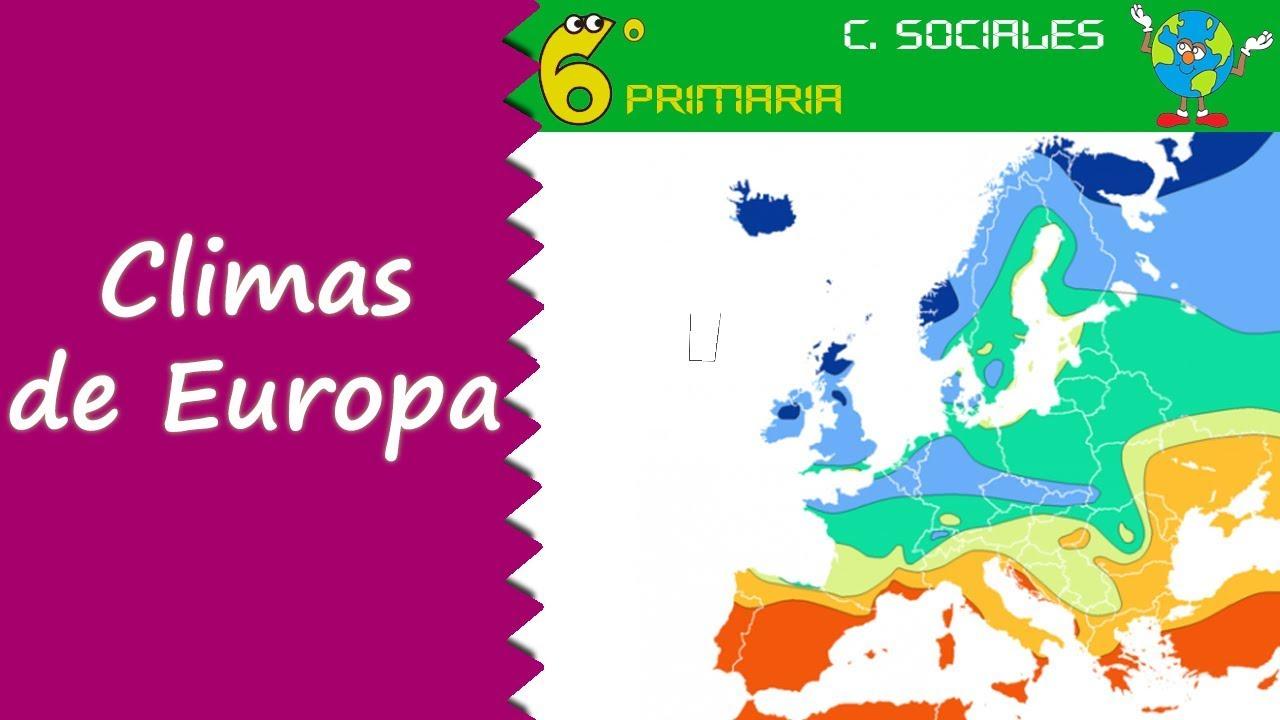 Climas de Europa. Sociales, 6º Primaria