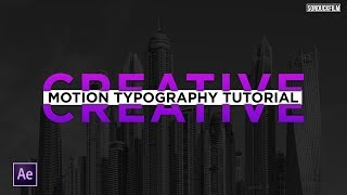 Be Creative | Animated Typography 3 | After Effects Tutorial