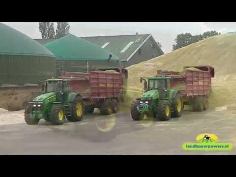 Mais hakselen en inkuilen bij Kloosterman Biogas met Jansen Tiendeveen