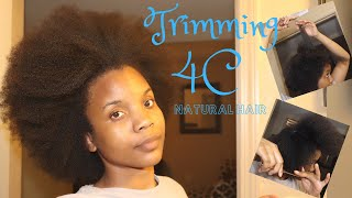 How To Trim Your Own Split Ends On 4c Natural Hair