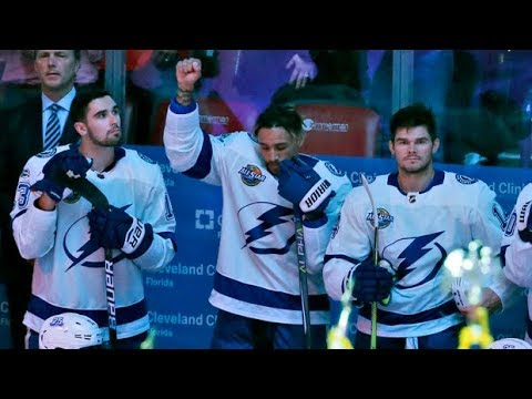 NHL player joins anthem protest