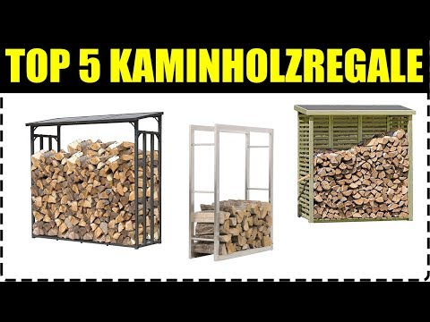 TOP 5 KAMINHOLZREGALE ★ Kaminholregal für Außen ★ Kaminholzregal kaufen ★ Garten Kaminholzunterstand