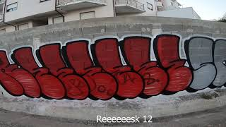 Solo Tagging And Bombing Mission Part #19 - Graffiti - Resk 12