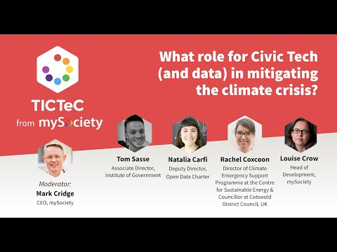 What role for Civic Tech, and open data, in mitigating the climate crisis?