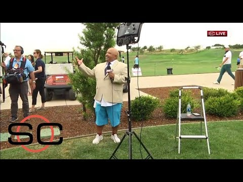 Steph Curry Catches ESPN Reporter In Shorts At Web.com Tour Event | SportsCenter | ESPN
