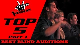 BEST TOP 5 THE VOICE in The World(Blind Auditions) Part 1
