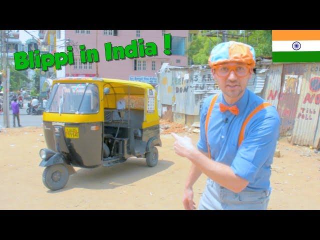 Blippi in India   Learning About the Rickshaw Tuk Tuk for Kids