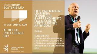 Youtube: Digital Talk | LIFELONG MACHINE LEARNING: TECNOLOGIE E APPRENDIMENTO FRA ALGORITMI E INTELLIGENZE ARTIFICIALI | Forum Sostenibilità 2020