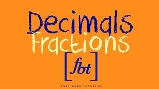 Converting Decimals to Fractions [fbt]
