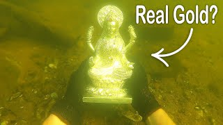 I Found a Rare Statue Underwater While Searching Drained River! VR180 (River Treasure)