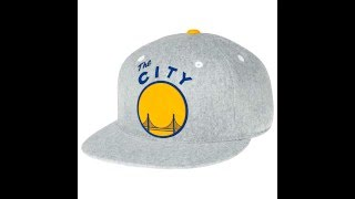Mitchell & Ness Golden State Warriors Solid Flannel Fitted Baseball Cap