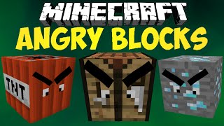 Minecraft Mod: ANGRY BLOCKS   Revenge Of The Blocks!