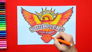 How to draw Sunrisers Hyderabad Logo (IPL Team)