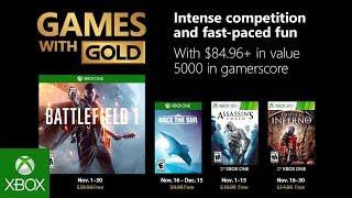 Games With Gold di novembre