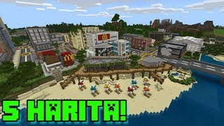 EN İYİ MİNECRAFT HARİTALARI !! Top 5 Minecraft PE Seed / Map