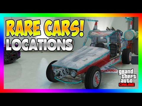 GTA 5 - FREE SECRET RARE CARS LOCATIONS IN GTA ONLINE! RARE STORABLE CAR SPAWNS! (GTA 5 Rare Cars)