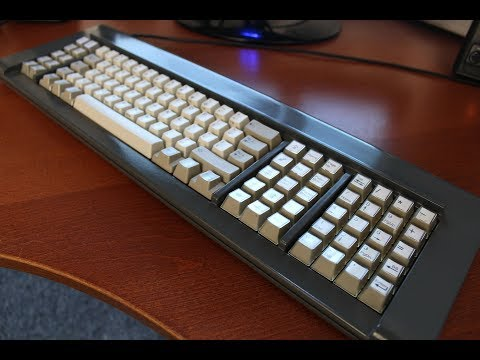 """Customised IBM 4704 Model F107 keyboard review """"Project I"""" (capacitive buckling springs)"""