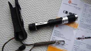 Unboxing TaoTronics Cree XM L T6 LED Taschenlampe ThorLite Taschen Hand Lampe Flashlight Wasserdicht