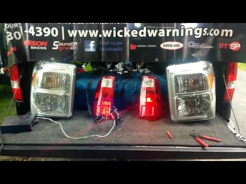 LED HAW DEMO 16 STROBES IN SUPERDUTY www.WickedWarnings.com