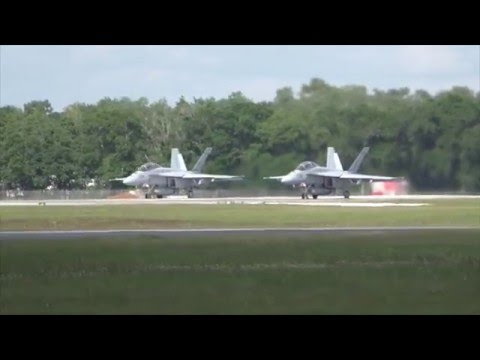 2 F-18 Super Hornets Take Off & Unrestricted Climb! Mp3