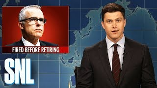 Weekend Update on Andrew McCabe's Firing - SNL