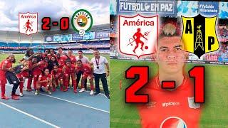 América De Cali 2 - 1 Alianza Petrolera |empezó La Liga águila 2019| Victoria América Femenino.