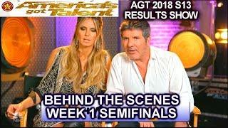 AGT Judges Intelligence Test Simon Heidi Mel B Howie Behind the scenes America's Got Talent 2018