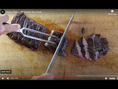 How to Slice an SRF Outside Skirt Steak