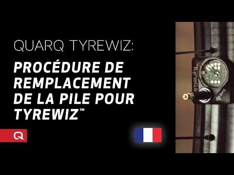 QUARQ: Procédure de remplacement de la pile pour TyreWiz™