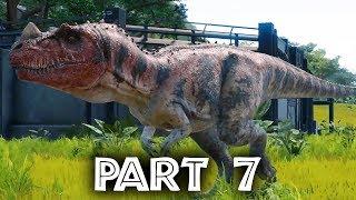 Jurassic World Evolution Gameplay Walkthrough Part 7 - DINOSAURS ESCAPE & NEW ISLAND