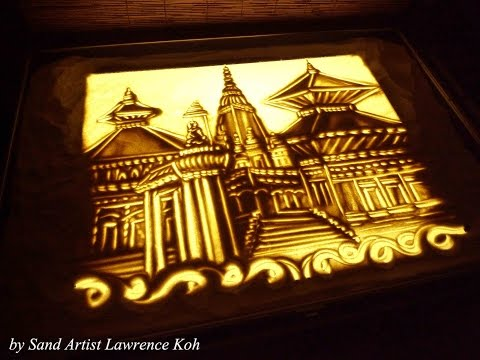 סרט של אומן ציור בחול על קסמה ונפלאותיה של נפאל