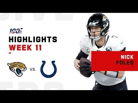 Nick Foles Marks Return w/ 296 Yards & 2 TDs   NFL 2019 Highlights