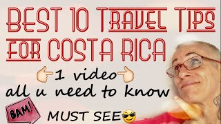 ❌Costa Rica TOP 10 BEST Travel Tips for the Vacation of a Lifetime in Costa Rica