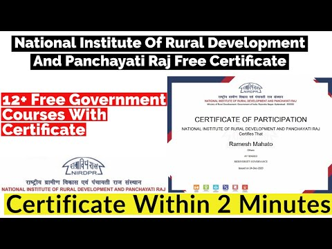 12+ Free Government Courses With Certificate | Free Certificate ...