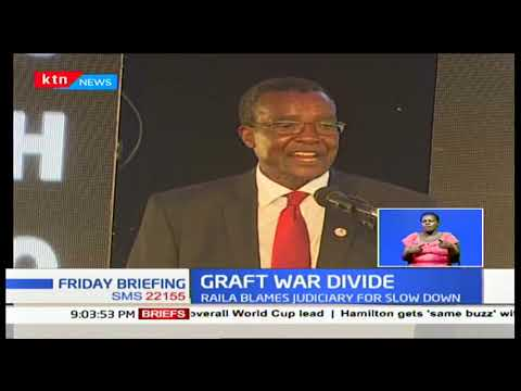 Raila Odinga differed with Maraga over graft cases