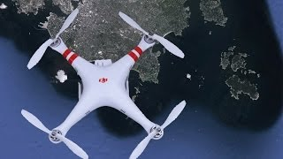 Gone in 45 seconds..Bye Bye Phantom Quadcopter over the ocean...or is it?