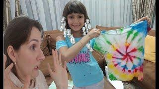 Elif'in Saçını boyadık, Tattoo yaptık, Tshirt'ünü gökkuşağı yaptık. Elif ile Eğlenceli Video