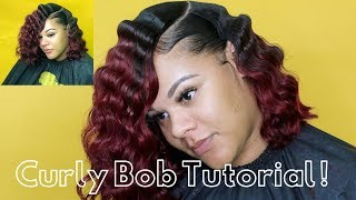 CURLY BOB HAIR TUTORIAL