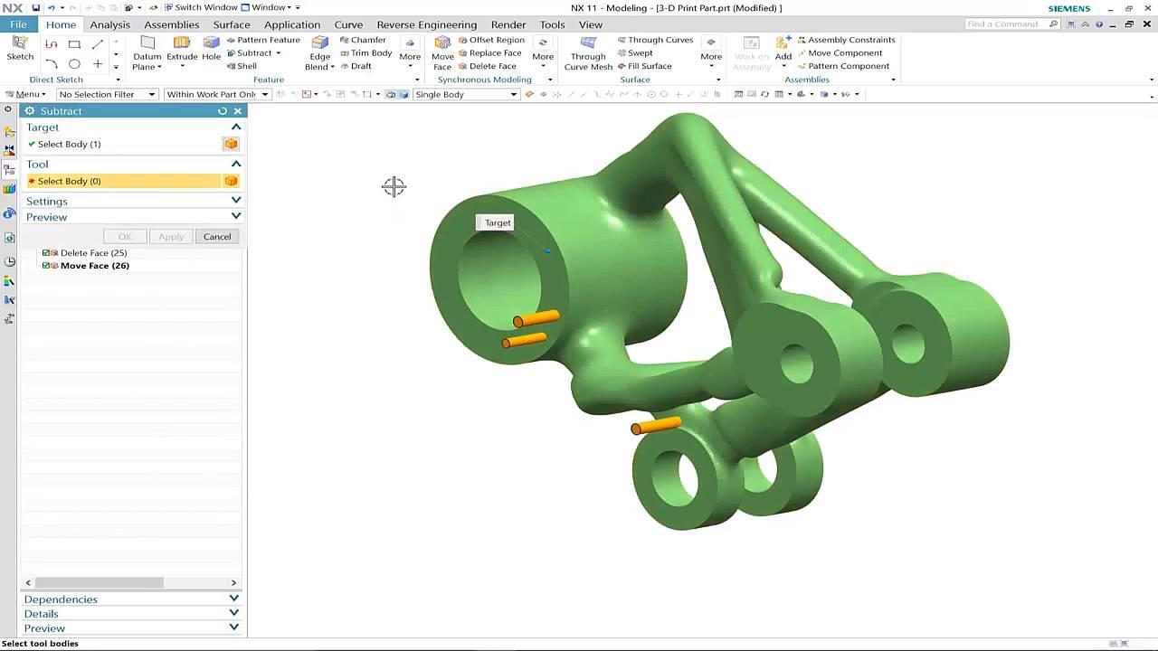 Vorschaubild: NX 11: Convergent Modeling und 3D-Druck