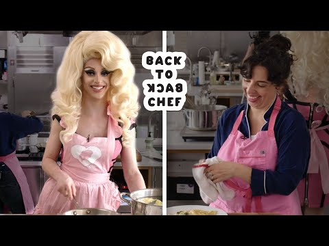 Miz Cracker Tries to Keep Up With a Professional Chef   Back-to-Back Chef   Bon Appetit
