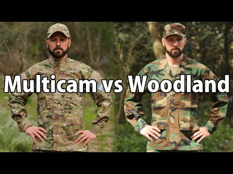 Multicam vs Woodland M81 видео