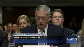 Secretary of Defense Nominee Gen. James Mattis (Ret.) Opening Statement (C-SPAN)
