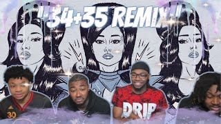 Ariana Grande - 34+35 (Remix) feat. Doja Cat and Megan Thee Stallion (Official Lyric Video) REACTION