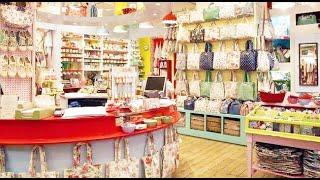 Modern Vintage Fashion & Home Decor Store Tour - Cath Kidston - Slice Of Life Vlog
