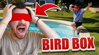 24 Hour Bird Box Challenge!! (BLINDFOLDED)