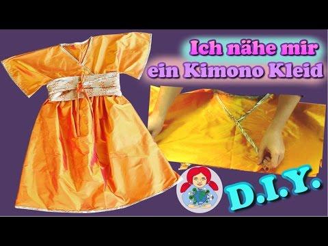 DIY   Kimono Kleid nähen Schritt für Schritt (Damengröße)