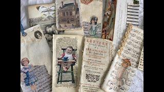 Tutorial   Making An Antique Lace Journal Part 5   Making Ephemera