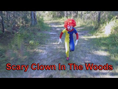Scary Creepy Clown In The Woods