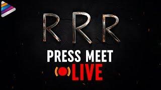 RRR Press Meet | Jr NTR | Ram Charan | SS Rajamouli | MM Keeravani | Telugu FilmNagar